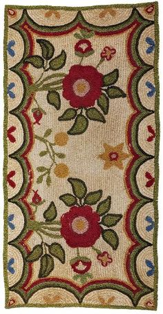 "An Extraordinary Rare Chenille-Shirred Rug, circa 1830.  Descended in the Titcomb family homestead, North Yarmouth, Maine.    ""Caterpillar"" chenille-shirred on linen"