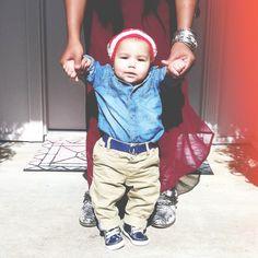 Kids fashion #h #babyboy #kids #denim #beanie