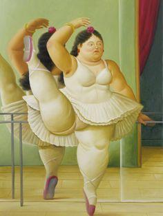 Credits : Fernando Botero paintings ballerina Plus size Art Fat curvy chubby ladies Dikke Dames Chef D Oeuvre, Oeuvre D'art, Pablo Picasso, Frida Diego, Tableaux Vivants, Plus Size Art, Fat Art, Oil Painting Reproductions, Fat Women