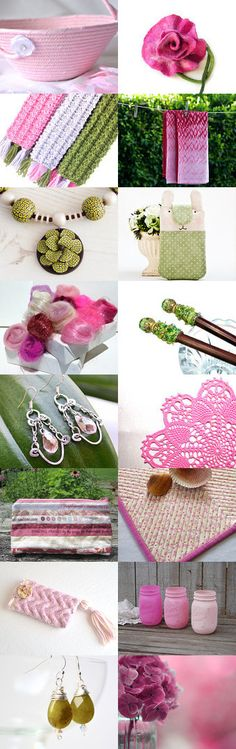 Lovely Etsy Treasury with unique handmade gifts.... Cute Pink Flower Girl Basket.... Summer trends by Jutta Glanz on Etsy--Pinned+with+TreasuryPin.com
