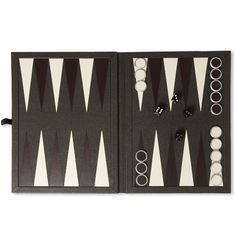 Bourdon leather-bound backgammon set from Alfred Dunhill at Mr. Porter. Pretty sweet. Never seen one in B+W.