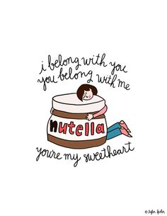 Nutella Ho Hey Print - 8.5x11 - Hand-Illustrated on Etsy, $20.00