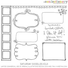 SHCO Confectionery - CU - Doodles/Brushes - Saturday Doodles {CU} - www.sugarhillco.com/cc