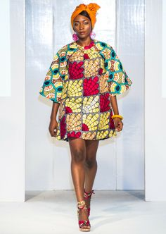 Ghana's Kiki Clothing lit up the runway on Day 2 of Africa Fashion Week London 2012 with an array of vibrant prints in shades of blue, yellow, orange in playful patterns. Print shirts and pencil skirts created the ideal office for the African-inspired working girl while A-line dresses with puffy sleeves, shorts and maxis made for a perfect casual summer collection. Photography: Simon Klyne/Catwalk Capture