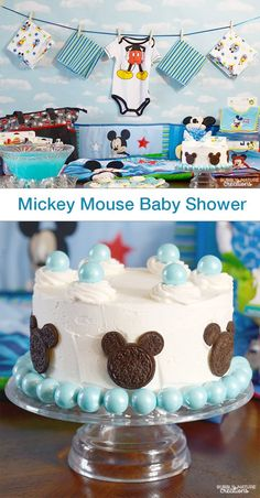 Mickey Mouse Baby Shower! Great ideas for the Mickey Mouse lover!