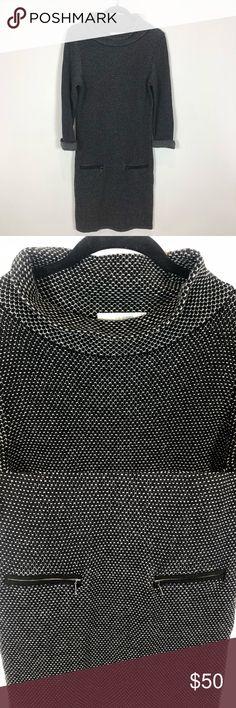 7321082ea Boden Dartmouth Wool Sweater Dress Boden Dartmouth Wool Sweater Dress. Cowl  Neck. Front zipper