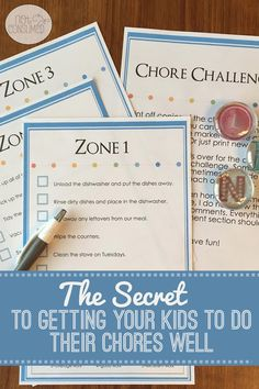 The question---> how to get your kids to do their chores well? The answer---> The Chore Challenge. Free printable included!
