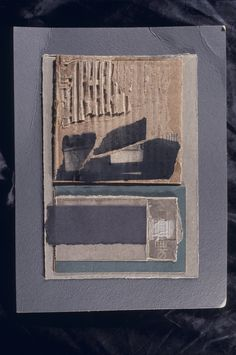 """Louise Nevelson - Maquette for """"Dusk in the Desert"""" tapestry, 1976, mixed media collage"""
