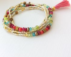 Hey, I found this really awesome Etsy listing at https://www.etsy.com/listing/234806145/beaded-wrap-bracelet-with-or-without
