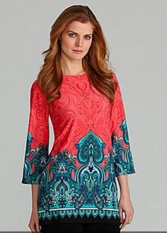 Paisley Print Tunic by Investments II