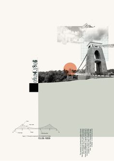From a series of posters based on Bristol cityscapes by Malcolm Turner 'Suspension Bridge 3'
