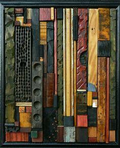 Still (A Verb): Heather Patterson: Wood Wall Art - Artful Home Wood Sculpture, Wall Sculptures, Wood Mosaic, Found Object Art, Wooden Wall Art, Reclaimed Wood Wall Art, Wood Wall Decor, Assemblage Art, Wood Carving