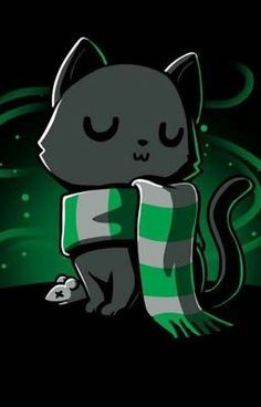 Sneaky Kitty<<<<let me educate you. So it all started with this really fricking bad guy, called Salazar slytherin, and he met. Harry Potter Anime, Arte Do Harry Potter, Cute Harry Potter, Slytherin Harry Potter, Harry Potter Drawings, Harry Potter Pictures, Harry Potter Memes, Slytherin Pride, Slytherin House
