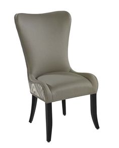 Shown in fabric 1613-85 on Inside Back & Seat, fabric 1631-85 on Outside Back and Outside Arms, with Walnut Standard   Wood Finish, and Optional Small Polished Nickel Nail Head Trim.