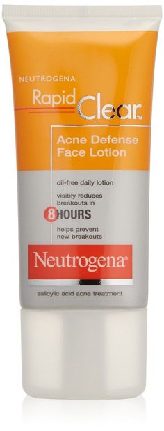 Neutrogena Rapid Clear Acne Defense Face Lotion, 1.7 Ounce (Pack of 3).   Read the rest of this entry » http://acnereview.biz/neutrogena-rapid-clear-acne-defense-face-lotion-1-7-ounce-pack-of-3/