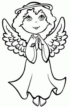 Imagenes de angeles de navidad para dibujar