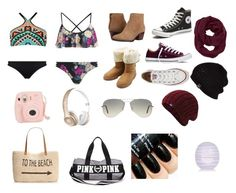 """Dream closet"" by tiershaw on Polyvore featuring MINKPINK, Seafolly, Converse, M&Co, Nine West, Beats by Dr. Dre, UGG Australia, Athleta, Ray-Ban and Style & Co."