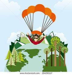 Стоковые вектора и векторный клип-арт Skydiving | Shutterstock