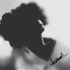 Black fro  Digitalart w/ Photography  By: Daria Ward