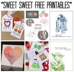 My favorites in free Valentine's Day Printables. Brighten someone's day!