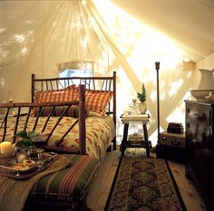 luxury camping, this needs a pic-nic, lanterns at night, and nice company ;)