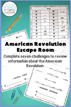 Looking for a fun U.S. History review activity? This American Revolution Escape Room comes with seven escape room challenges to help students review the people and events of the American Revolution. #vestals21stcenturyclassroom #americanrevolution #americanrevolutionescaperoom #americanrevolutionactivities #historyescaperoom #ushistoryescaperoom #historyescaperoomideas #historyescaperoomlesson #escaperoomhistoryclassroom