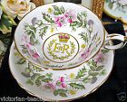 PARAGON TEA CUP AND SAUCER E&R PATTERN THISTLE TEACUP PAINTED
