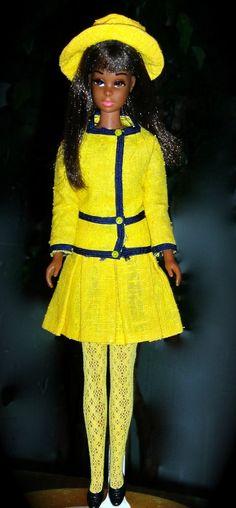 Vintage Barbie ~ African American TNT Black Francie ~Rare 2nd Issue w Borderline