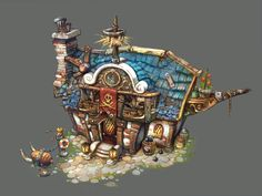 * pirate tavern, greeimm Bae on ArtStation at https://www.artstation.com/artwork/pirate-tavern-5515abae-41ed-4695-82ef-e2ce477bcbdf