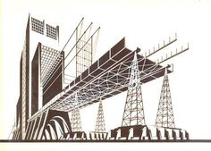 Iakov Chernikhov  constructivist architect and graphic designer. Architectural design published between 1927 and 1933