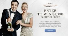 Win $500 in Gilt City Credits (for all your wardrobe & prep... sweepstakes IFTTT reddit giveaways freebies contests