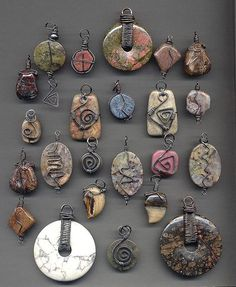 ideas for wire-wrapped pendants