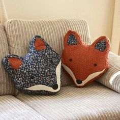 Vintage Inspired Fox Cushion from Not On The High Street. : Vintage Inspired Fox Cushion from Not On The High Street. Fox Crafts, Kids Crafts, Arts And Crafts, Diy Pillows, Throw Pillows, Pillow Ideas, Cushion Ideas, Sewing Crafts, Sewing Projects