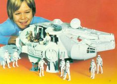 There's happy. And then there's Star Wars happy. (Kenner, 1980)