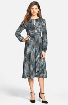 NAS: Classiques Entier® Keyhole Neck Ruched Waist Dress (Regular & Petite) available at #Nordstrom