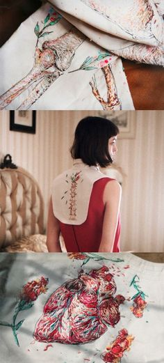 Embroidered fashion by Designers Nastya Klimova & Liza Smirnova. Photography by Sonya Kydeeva