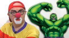 Клоун Дима и супер герои: Халк,Человек-паук... Car Clown & Super Heroes ...