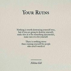Your Ruins // Nikita Gill