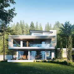 What do you think of this modern house design? Modern House Facades, Modern House Design, Design Exterior, Solar Panels For Home, Villa Design, Design Design, Design Ideas, Urban Design, House On A Hill
