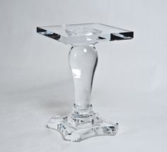 Lucite Table Base | Home Products Furniture Tables Side Balustrade Side Table  Base Acrylic