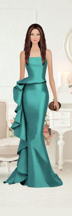 Dinner Gowns, Evening Dresses, Fashion Dress Up Games, Fashion Dresses, Classy Dress, Classy Outfits, Elegant Dresses, Beautiful Dresses, Girl Fashion
