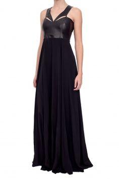Mason by Michelle Mason Neck Piece Maxi Dress - Black