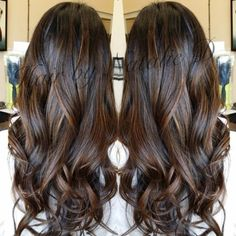 Perfect balayage for black hair!! natalied_makeup_hair's photo on Instagram by rena