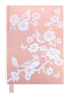 A5 Hard Cover Chinoiserie Birds Luxury Journal  #cristinare #design #luxury #journal #designer #black #elegant #vintage #diamante #soap #rose #wedding #flowers #pink #gold #whereagirlgoes #ornate #timeless #pastels #floral #pen #birds  https://www.facebook.com/cristinaredesign