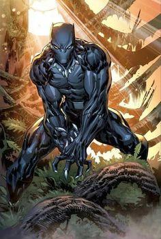 Black Panther Comic, Black Panther King, Marvel Comics Art, Marvel Heroes, Marvel Avengers, Marvel Comic Character, Marvel Characters, Comic Manga, Comic Art