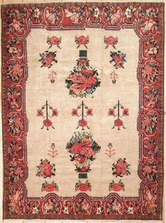 New Contemporary Persian Bakhtiari Area Rug 40903 - Persian Carpet, Persian Rug, Iranian Rugs, Contemporary Area Rugs, Rectangular Rugs, Carpet Design, Carpet Runner, Graphic, Tribal Rug