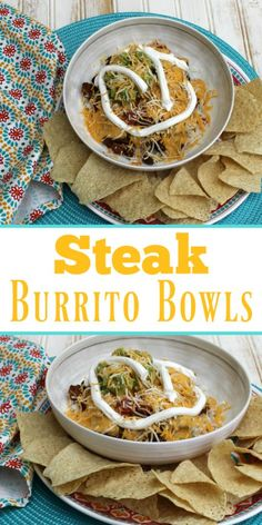 Steak Burrito Bowls - a super easy and even tastier recipe to celebrate Cinco de Mayo! Mexican Food Recipes, Beef Recipes, Healthy Recipes, Yummy Recipes, Mexican Meals, Lunch Recipes, Dinner Recipes Easy Quick, Easy Meals, Burrito Bowls
