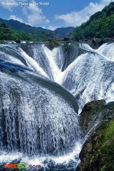 Pearl Shoal Waterfall, Jiuzhaigou, China