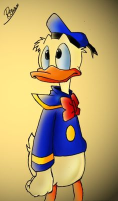 Donald Fauntleroy Duck or Donald Duck is a funny animal cartoon character created in 1934 at Walt Disney Productions. Walt Disney, Disney Duck, Disney Magic, Disney Mickey, Donald Duck Wallpaper, Tweety, Duck Cartoon, Cartoon Art, Pixar