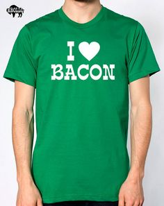 I Love Bacon MENS T-shirt / Womens T Shirt Cool Shirt Funny t-shirt